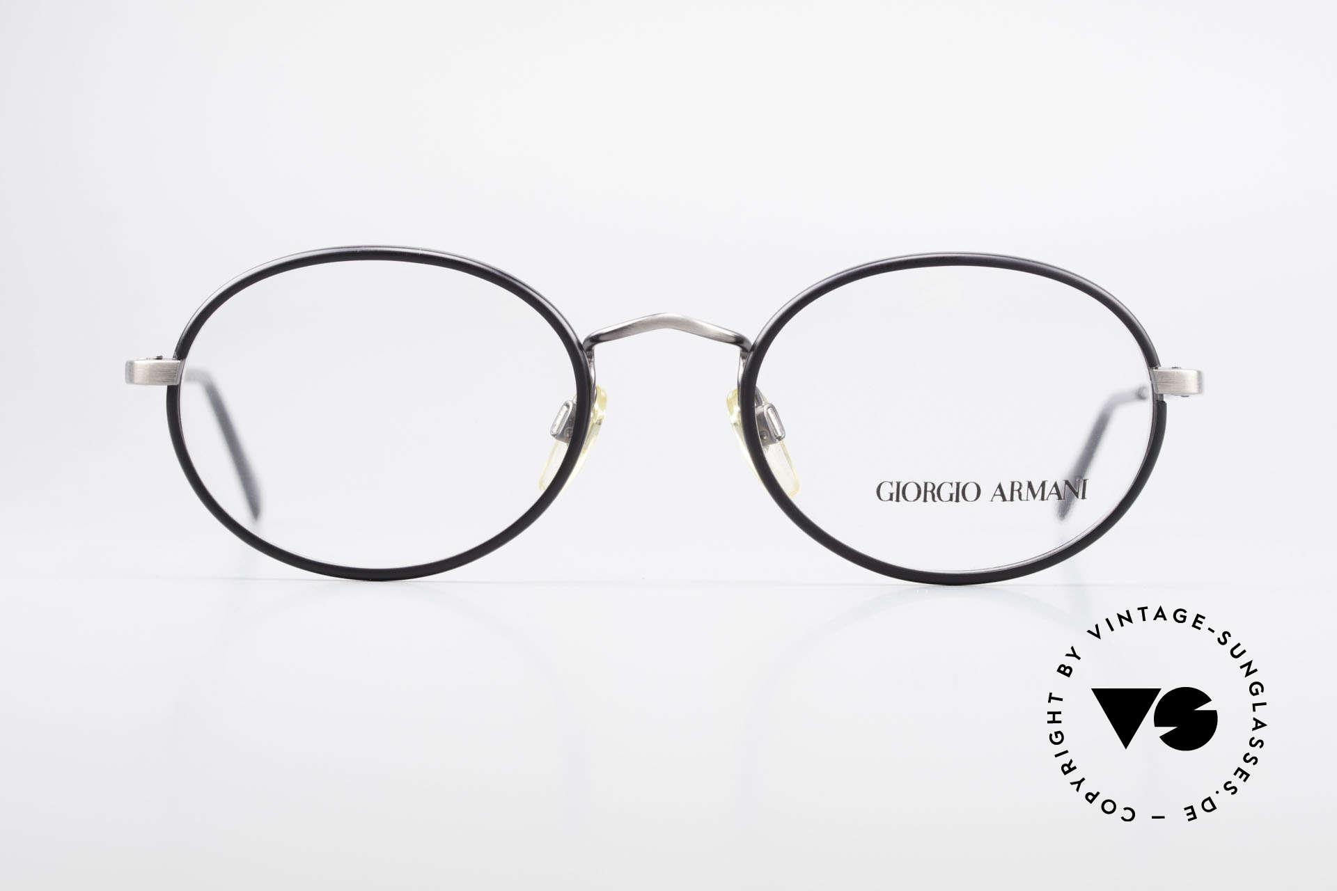 Giorgio Armani 235 Ovale Vintage Brille Unisex, absoluter Klassiker in Farbe und Form; zeitlos elegant, Passend für Herren und Damen