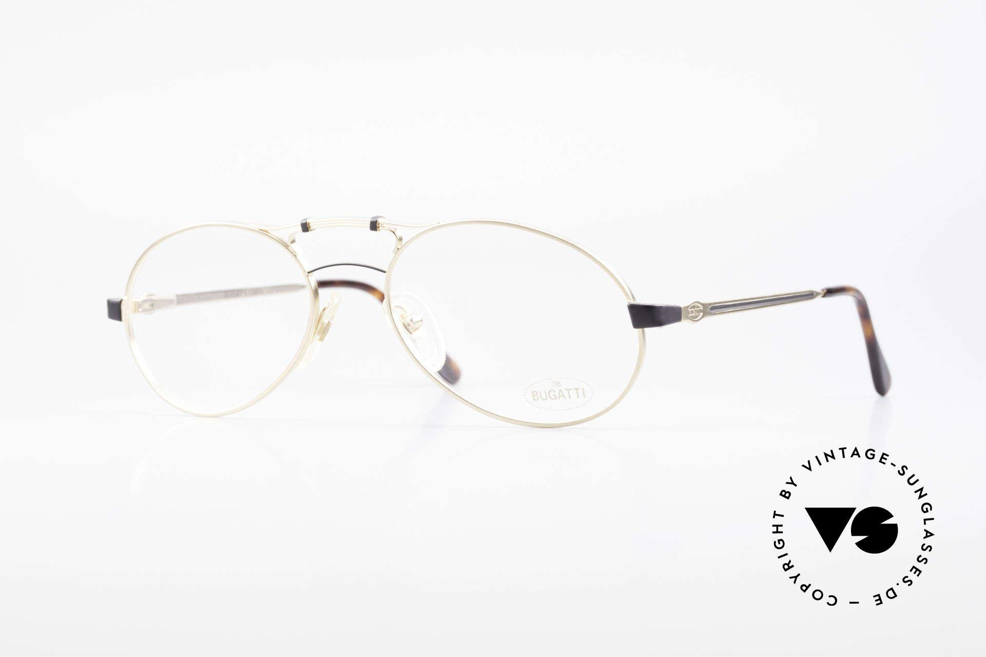 Bugatti 13411 Vintage Herrenbrille Luxus, antik anmutende 90er BUGATTI vintage Brillenfassung, Passend für Herren