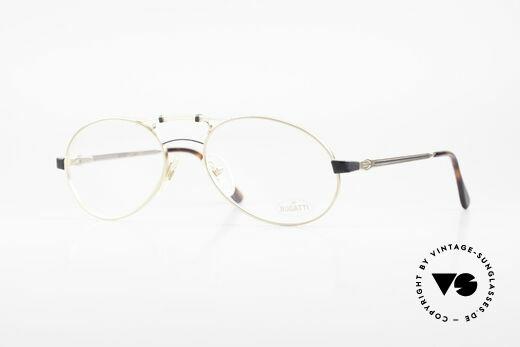 Bugatti 13411 Vintage Herrenbrille Luxus Details