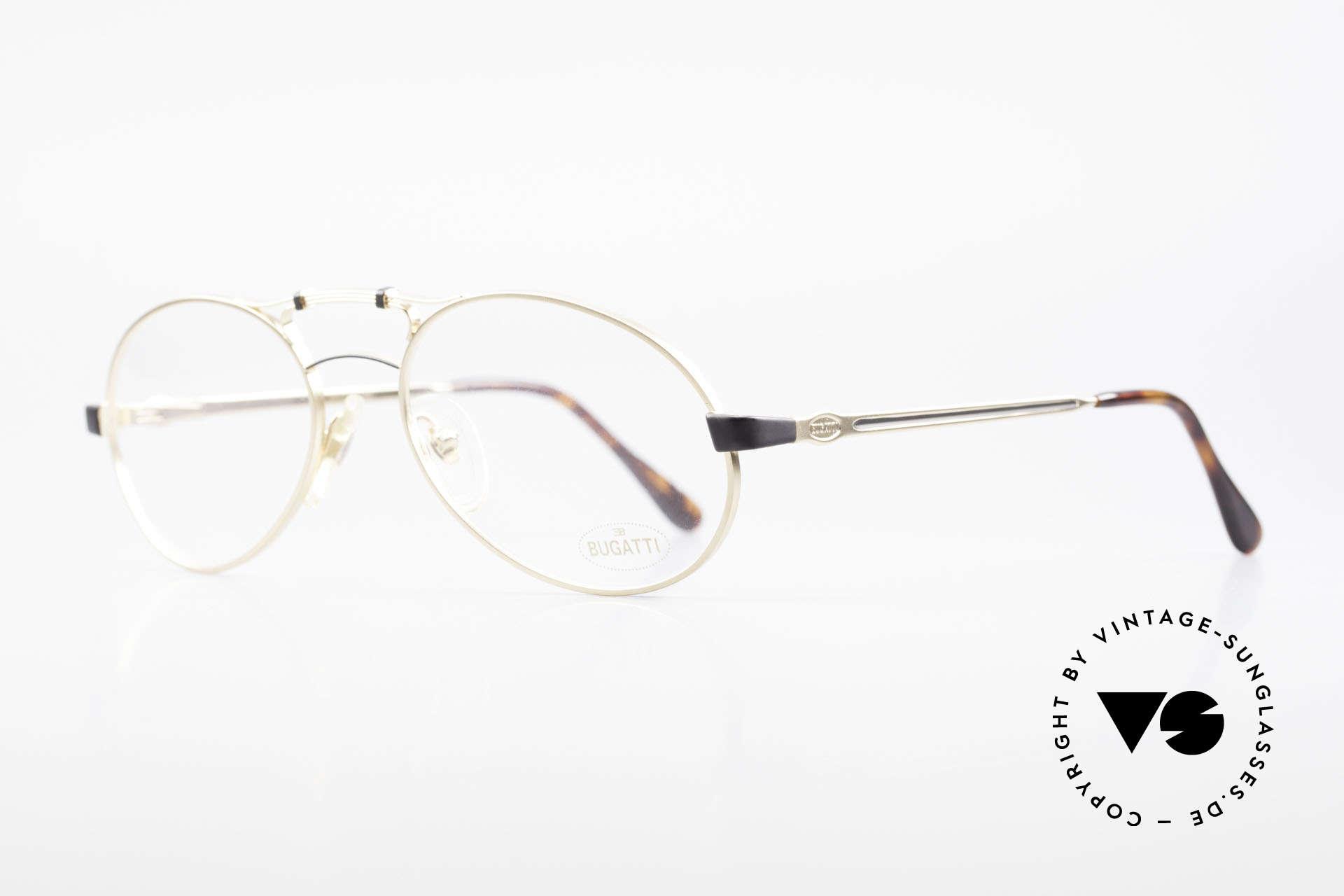 Bugatti 13411 Vintage Herrenbrille Luxus, typisches Bugatti Herrendesign (spezielle Tropfenform), Passend für Herren
