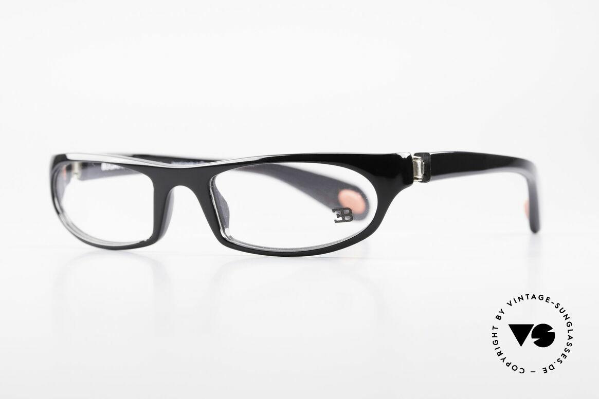 Bugatti 325 Odotype Rare Herren Designer Brille, ergonomischer Rahmen mit 180°-Scharnieren, Passend für Herren