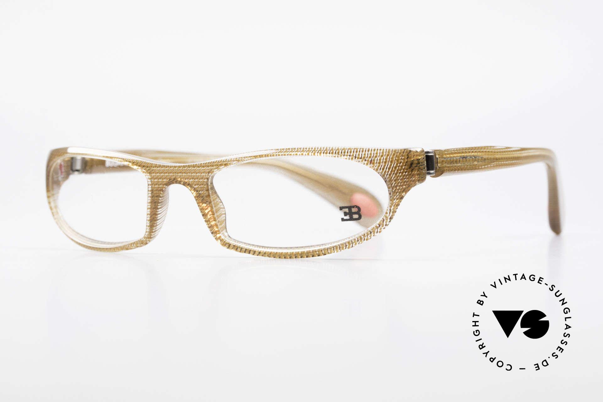 Bugatti 325 Odotype Vintage Herren Designer Brille, ergonomischer Rahmen mit 180°-Scharnieren, Passend für Herren