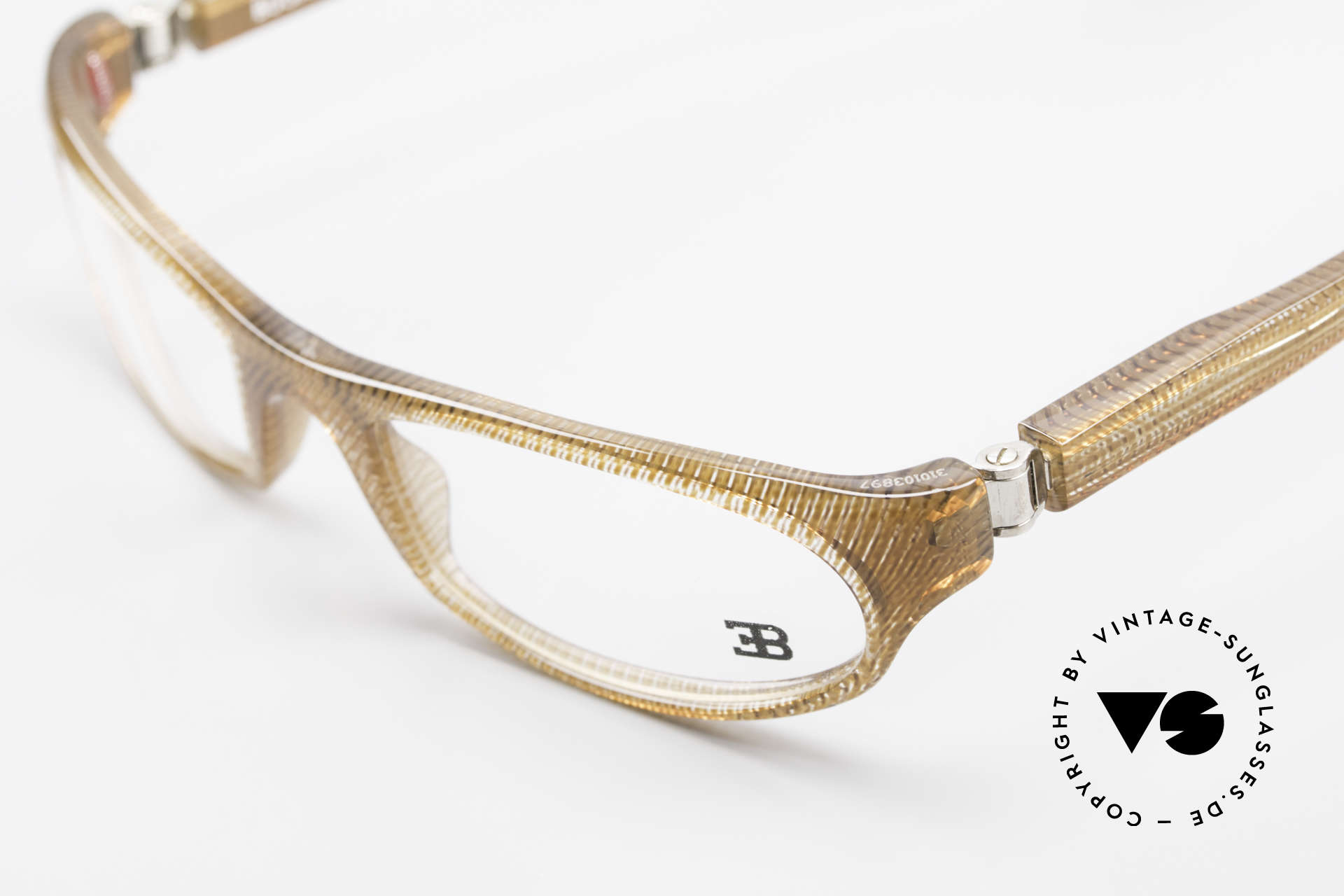 Bugatti 325 Odotype Vintage Herren Designer Brille, sehr spezielle Glaseinfassung & Top Komfort, Passend für Herren