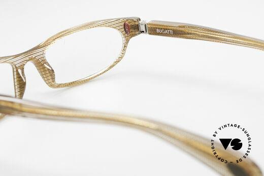 Bugatti 325 Odotype Vintage Herren Designer Brille, edles Rahmenmuster in transparent und braun, Passend für Herren