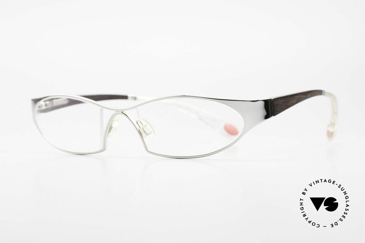 Bugatti 373 Odotype Ebenholz Brille Mosambik 22kt, ergonomischer Rahmen mit Federscharnieren, Passend für Herren