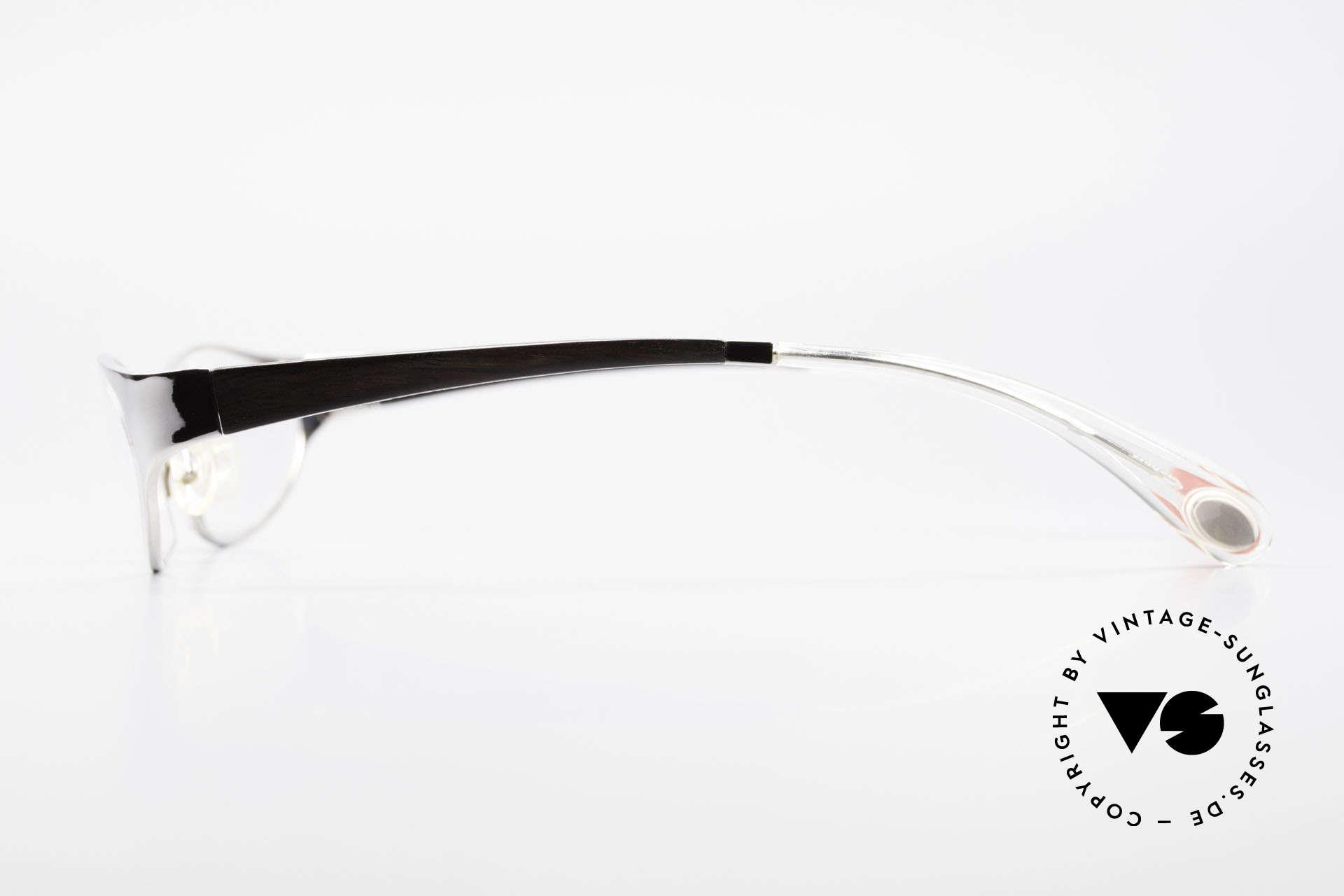 Bugatti 373 Odotype Ebenholz Brille Mosambik 22kt, spezielle Glaseinfassung und 22kt Weissgold, Passend für Herren
