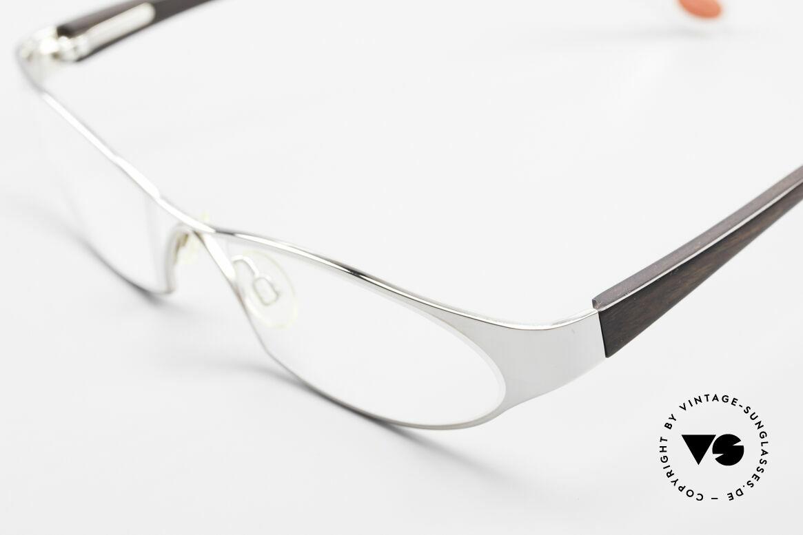Bugatti 373 Odotype Ebenholz Brille Mosambik 22kt, circa 15 Jahre altes Einzelstück; ungetragen!, Passend für Herren