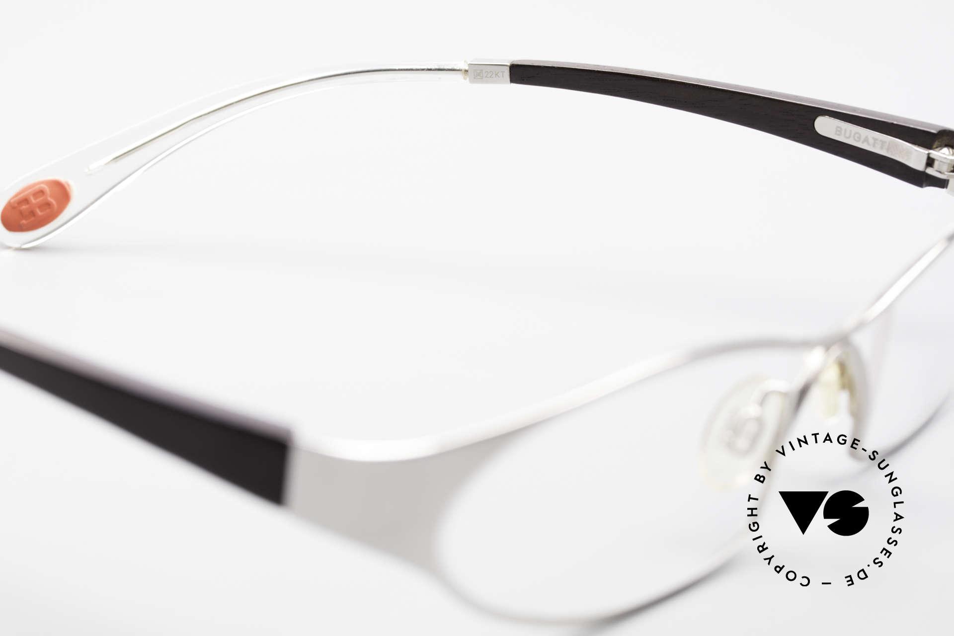 Bugatti 373 Odotype Ebenholz Brille Mosambik 22kt, Größe: medium, Passend für Herren