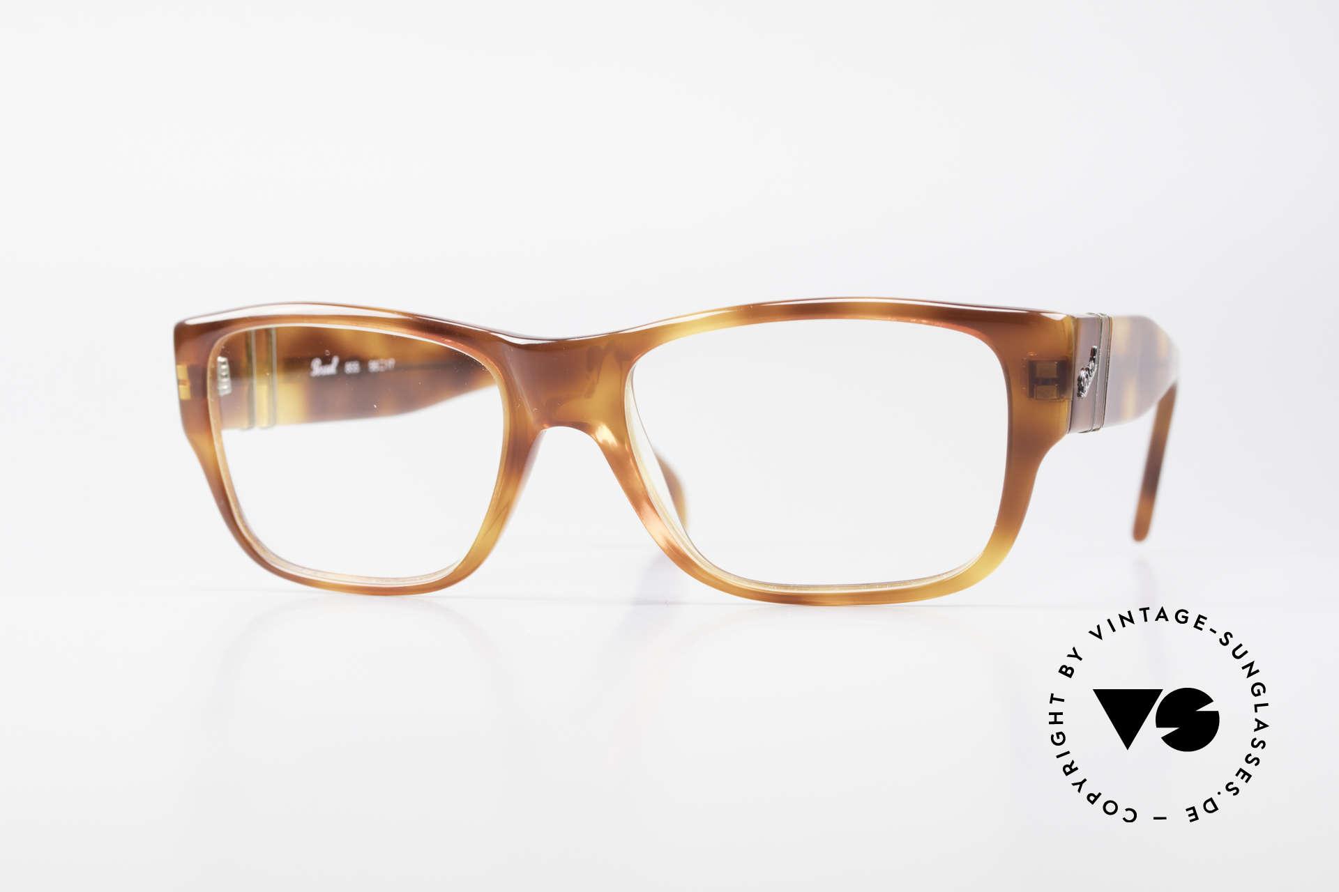 Persol 855 Markante Herren Vintage Brille, elegante vintage Persol Brillenfassung der 1990er, Passend für Herren