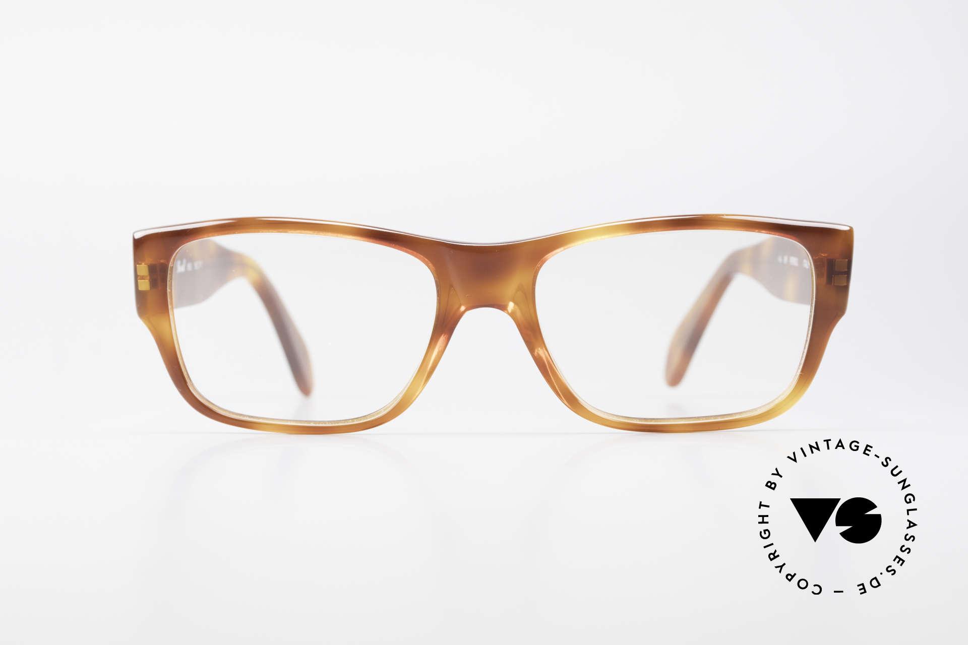 Persol 855 Markante Herren Vintage Brille, klassische Brillenform in einem zeitlosen Design, Passend für Herren