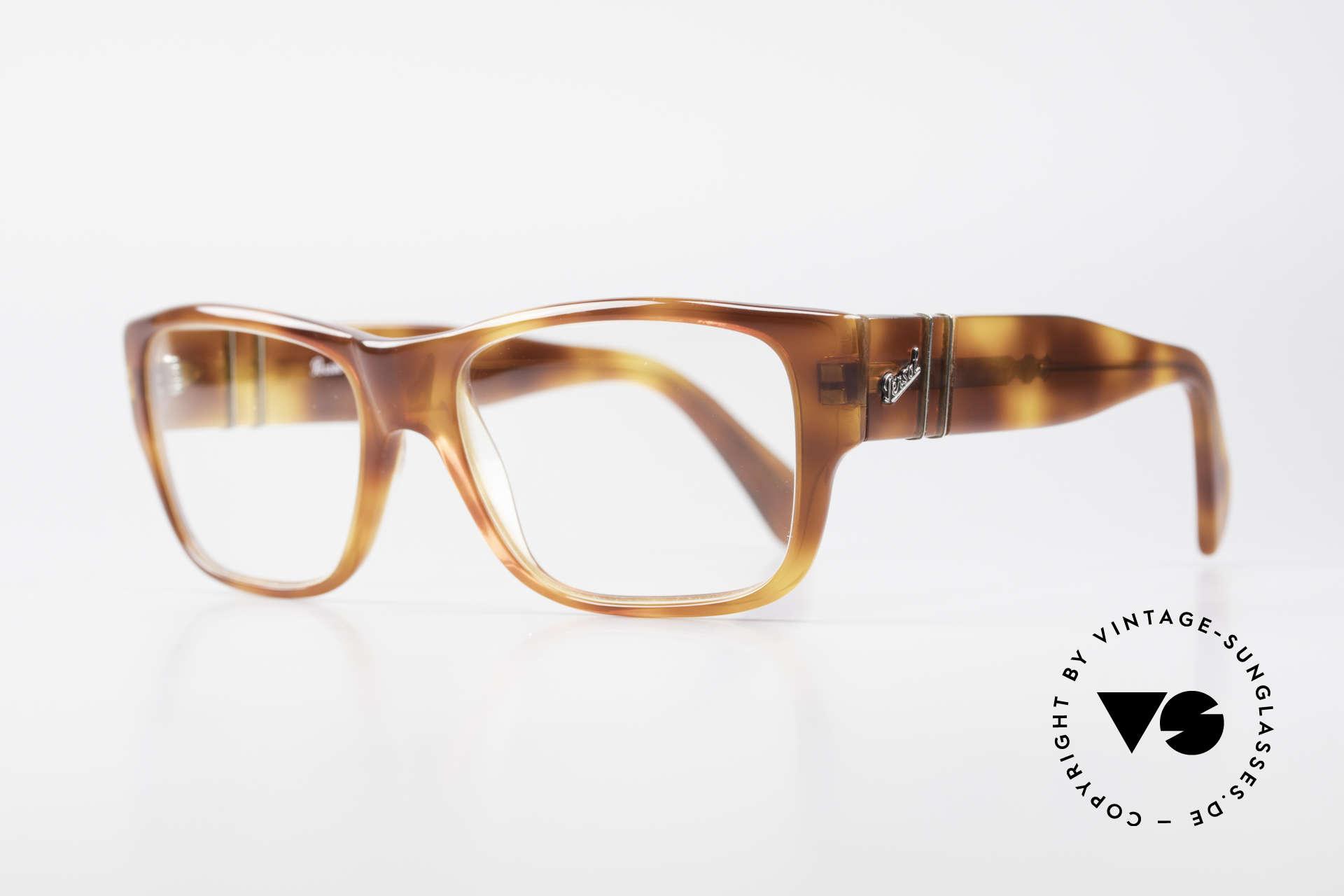 Persol 855 Markante Herren Vintage Brille, hochwertigste Materialien und Fertigungsqualität, Passend für Herren