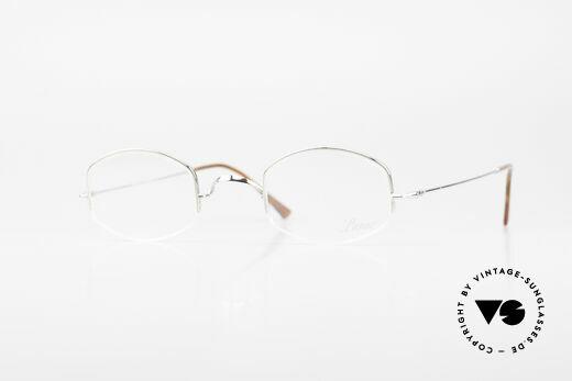 Lunor String Halb Randlose Vintage Brille Details