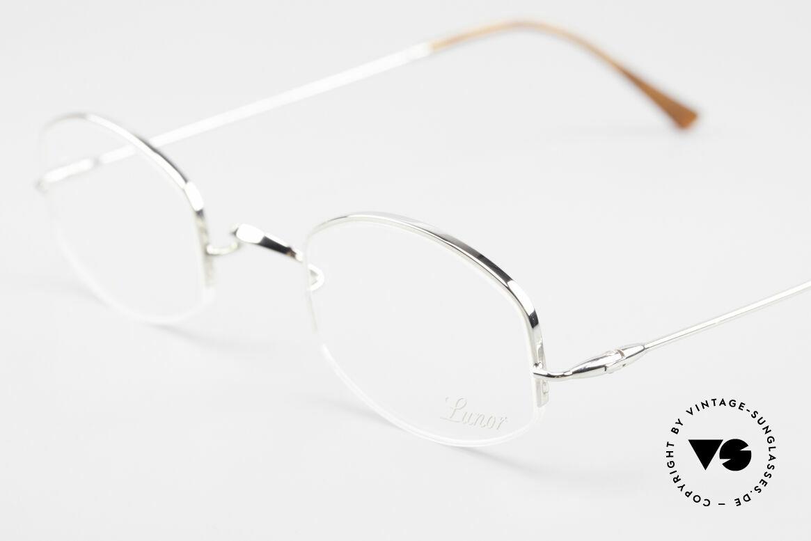 Lunor String Halb Randlose Vintage Brille, bekannt für den W-Steg und die schlichten Formen, Passend für Herren und Damen