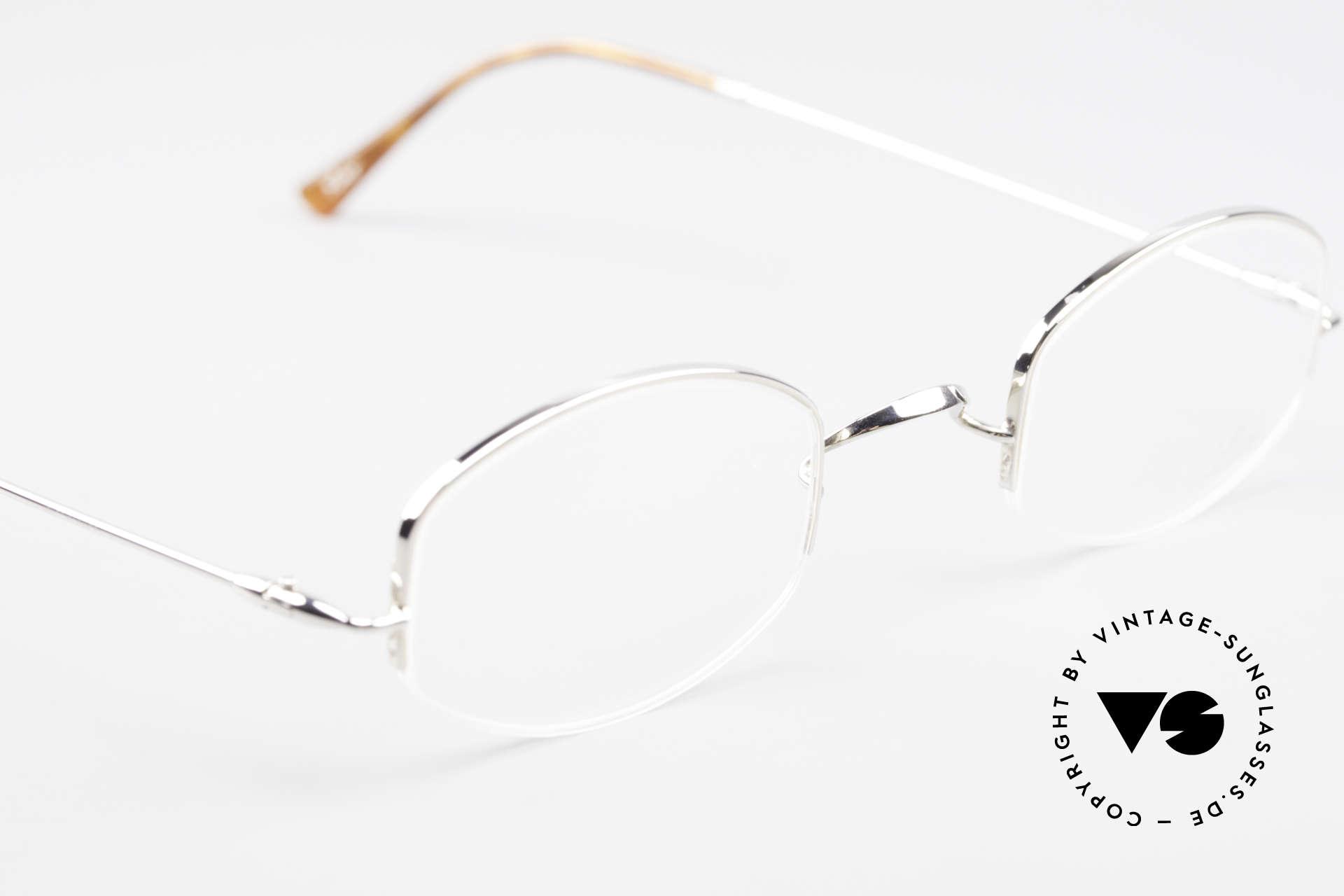 Lunor String Halb Randlose Vintage Brille, altes, ungetragenes LUNOR Einzelstück von ca. 1999, Passend für Herren und Damen