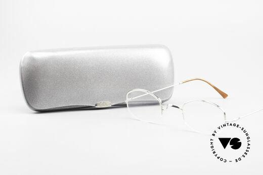 Lunor String Halb Randlose Vintage Brille, Lunor Brille kommt mit einem original LUNOR Etui, Passend für Herren und Damen