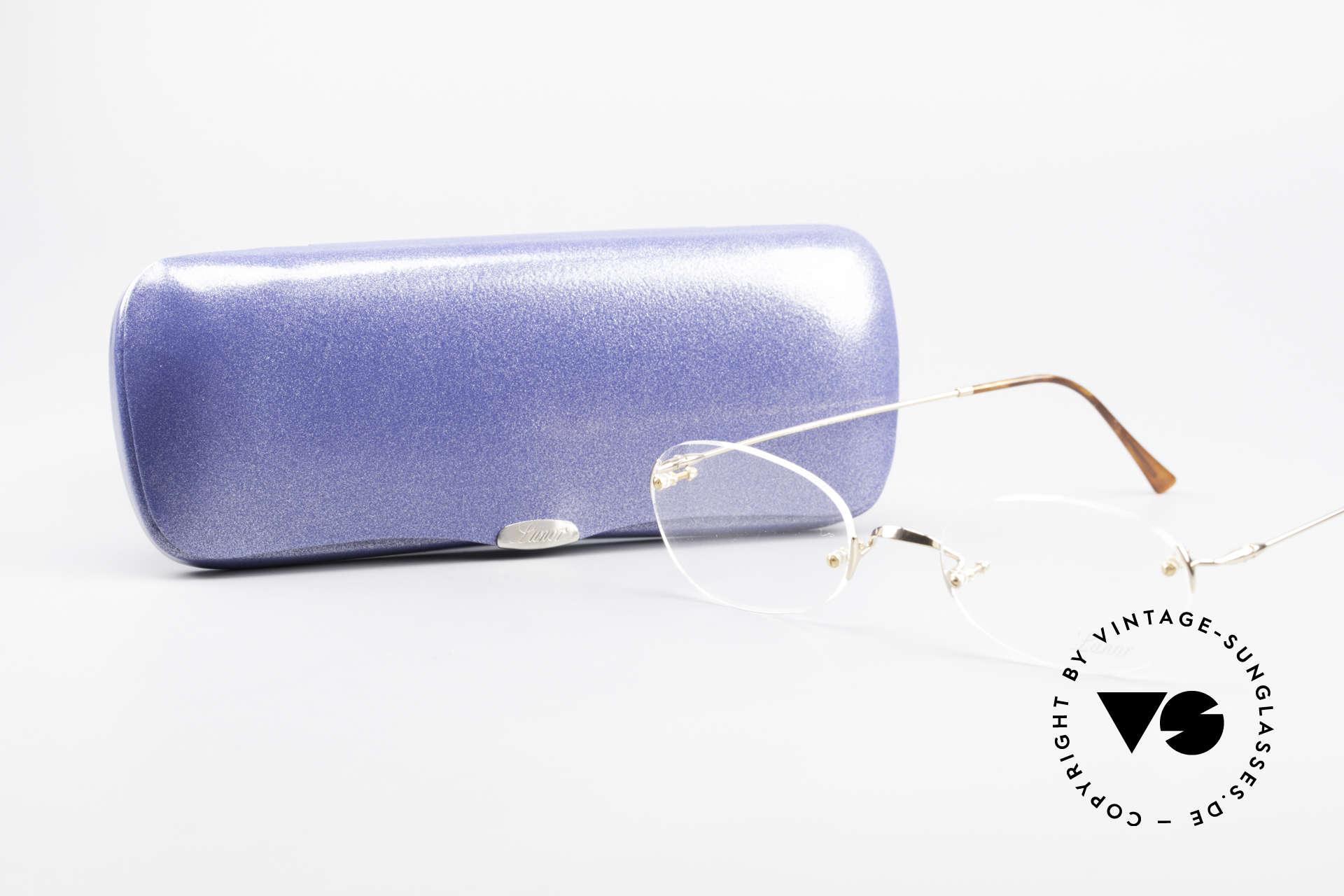 Lunor Classic Future GP Randlose Vintage Fassung, Lunor Brille kommt mit einem original LUNOR Etui, Passend für Herren und Damen