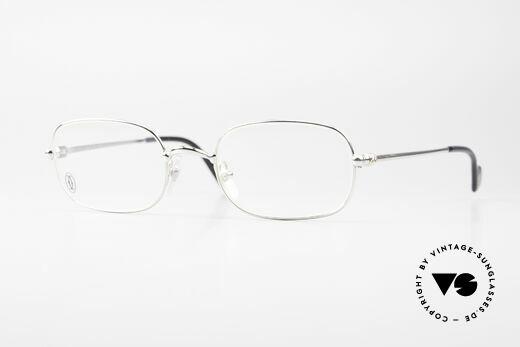 Cartier Deimios Eckige Luxus Brille Platin Details