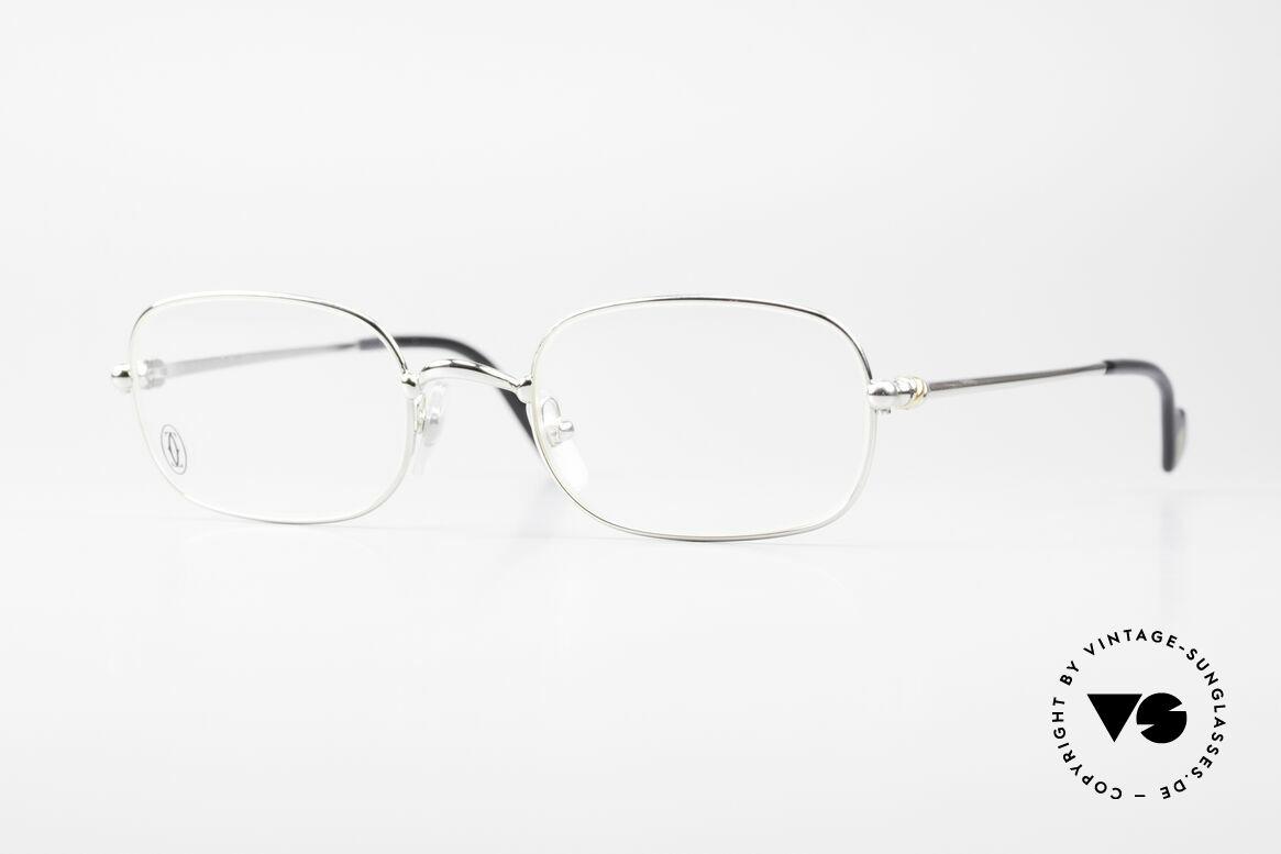 Cartier Deimios Eckige Luxus Brille Platin