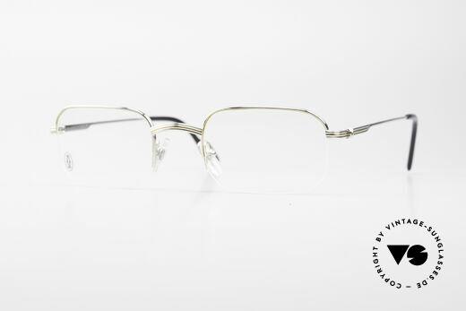 Cartier Broadway Halb Randlose Brille Platin Details