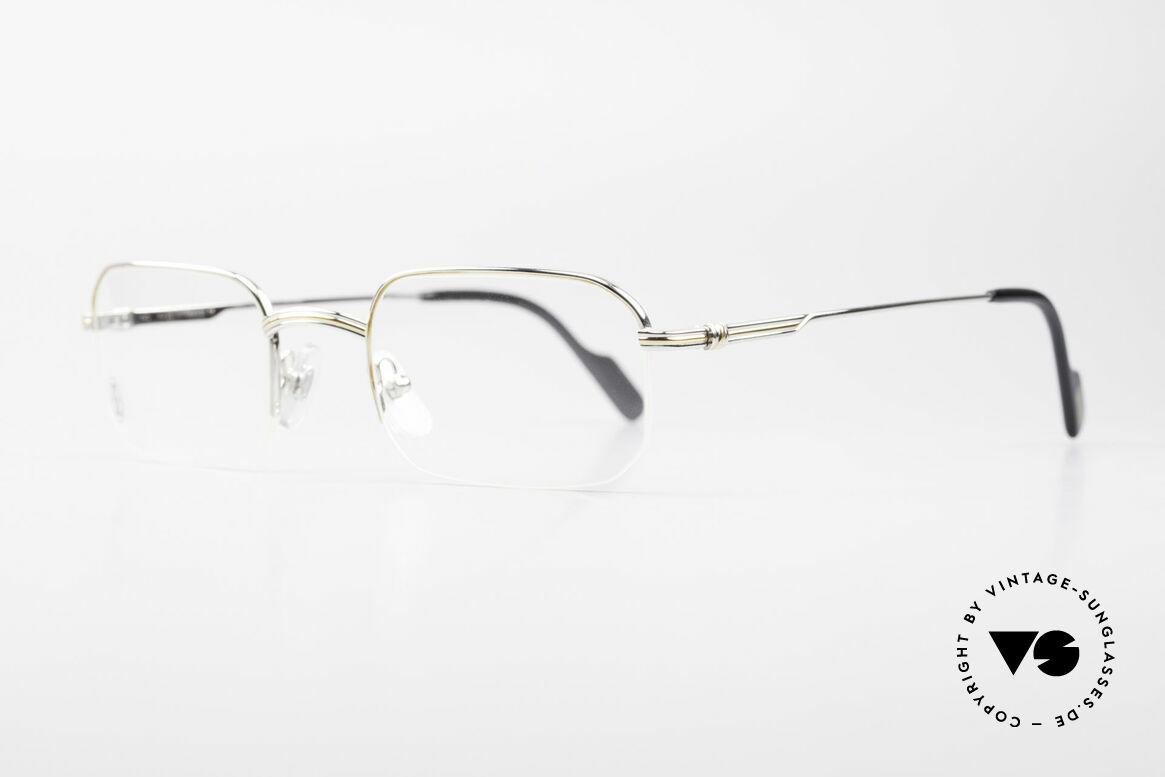 Cartier Broadway Halb Randlose Brille Platin, teure Platin-Edition: Fassung mit Platin-Legierung, Passend für Herren