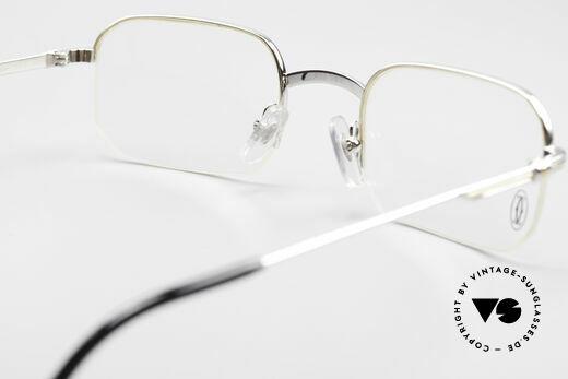 Cartier Broadway Halb Randlose Brille Platin, KEINE RETRO Cartier Brille; ein Original von 1999!, Passend für Herren