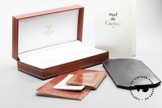 Cartier Broadway Halb Randlose Brille Platin