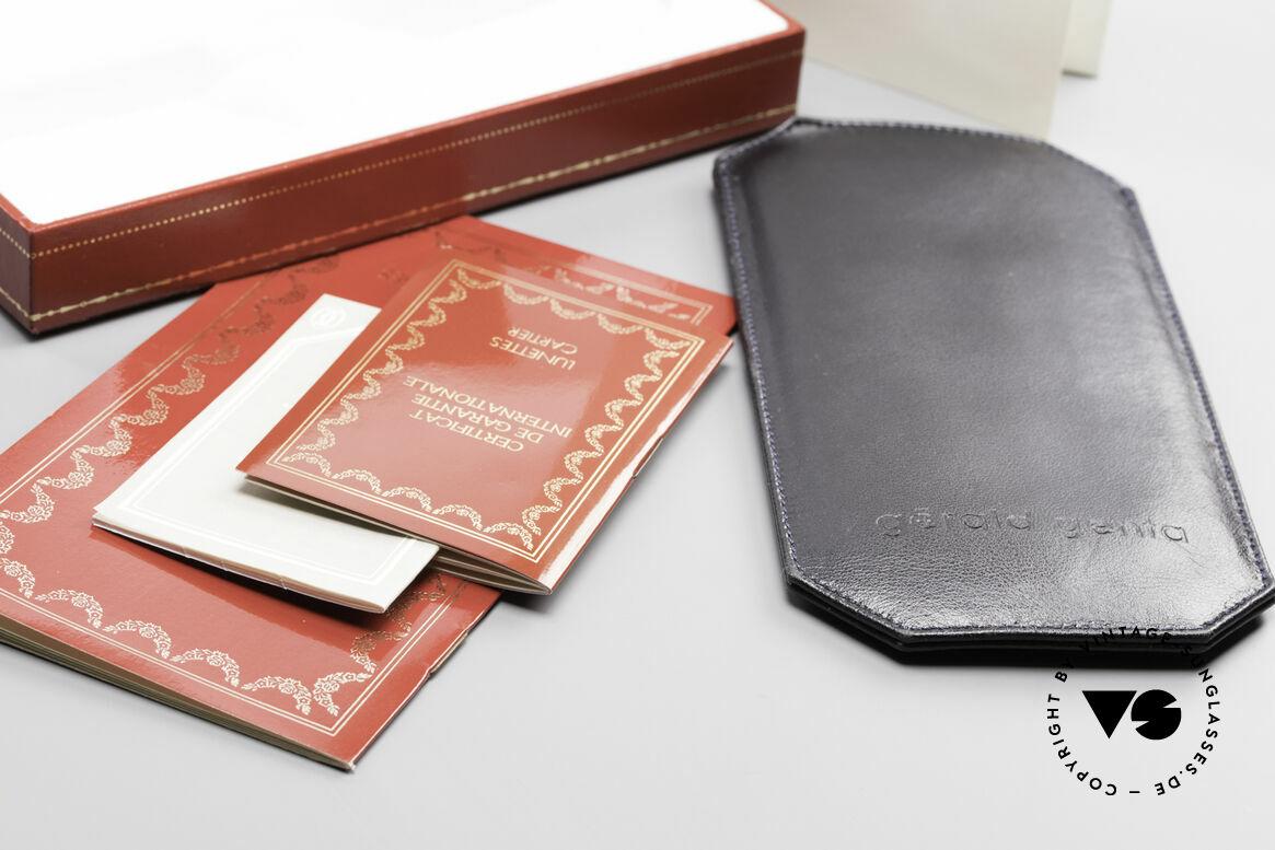 Cartier Broadway Halb Randlose Brille Platin, Größe: medium, Passend für Herren