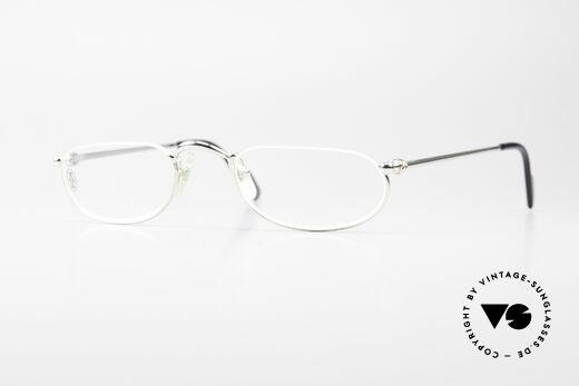Cartier Demi Lune 2000 Ovale Luxus Lesebrille Platin Details