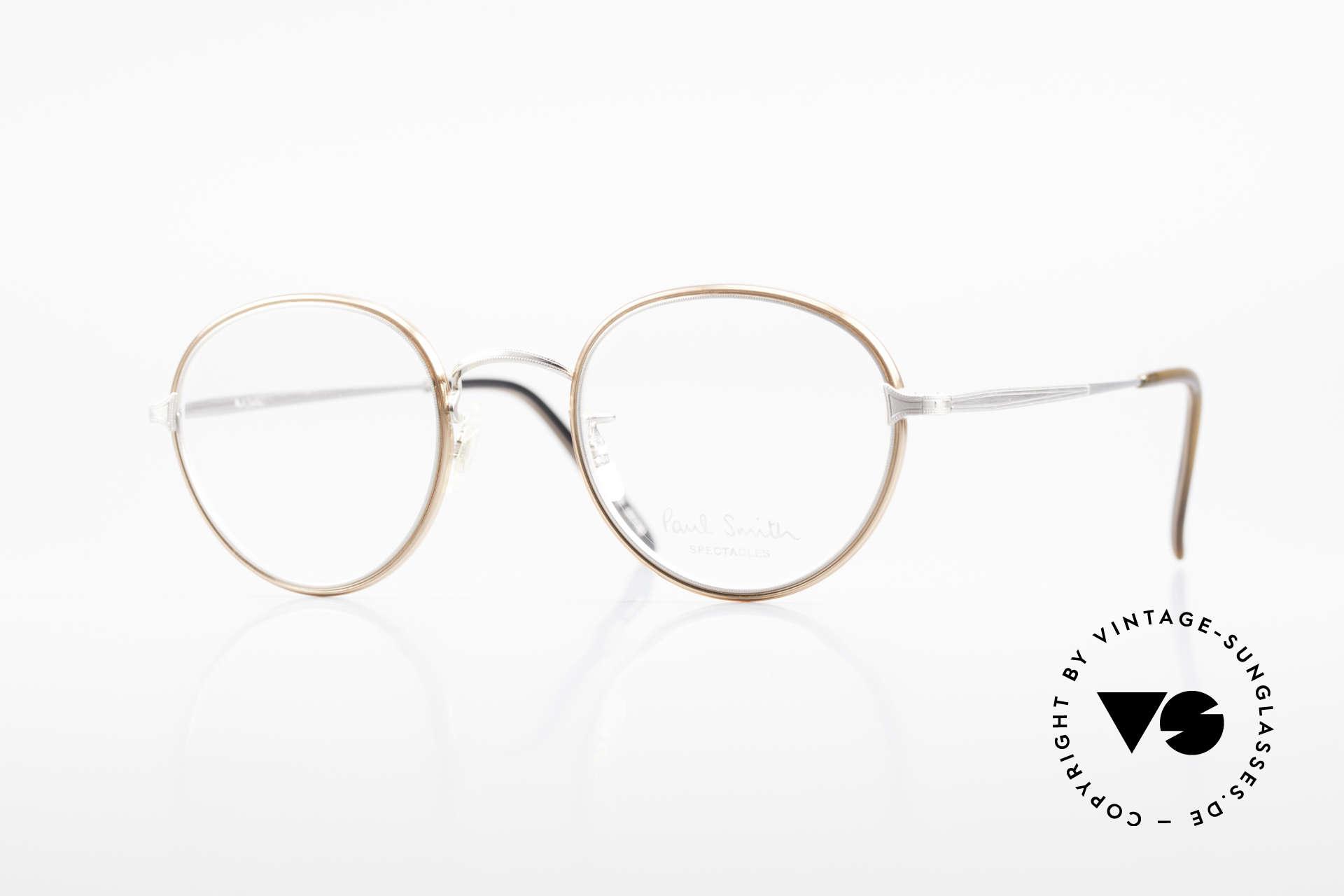 Paul Smith PSR109 Alte Pantobrille Made in Japan, Paul Smith vintage Brille der späten 80er / frühe 90er, Passend für Herren
