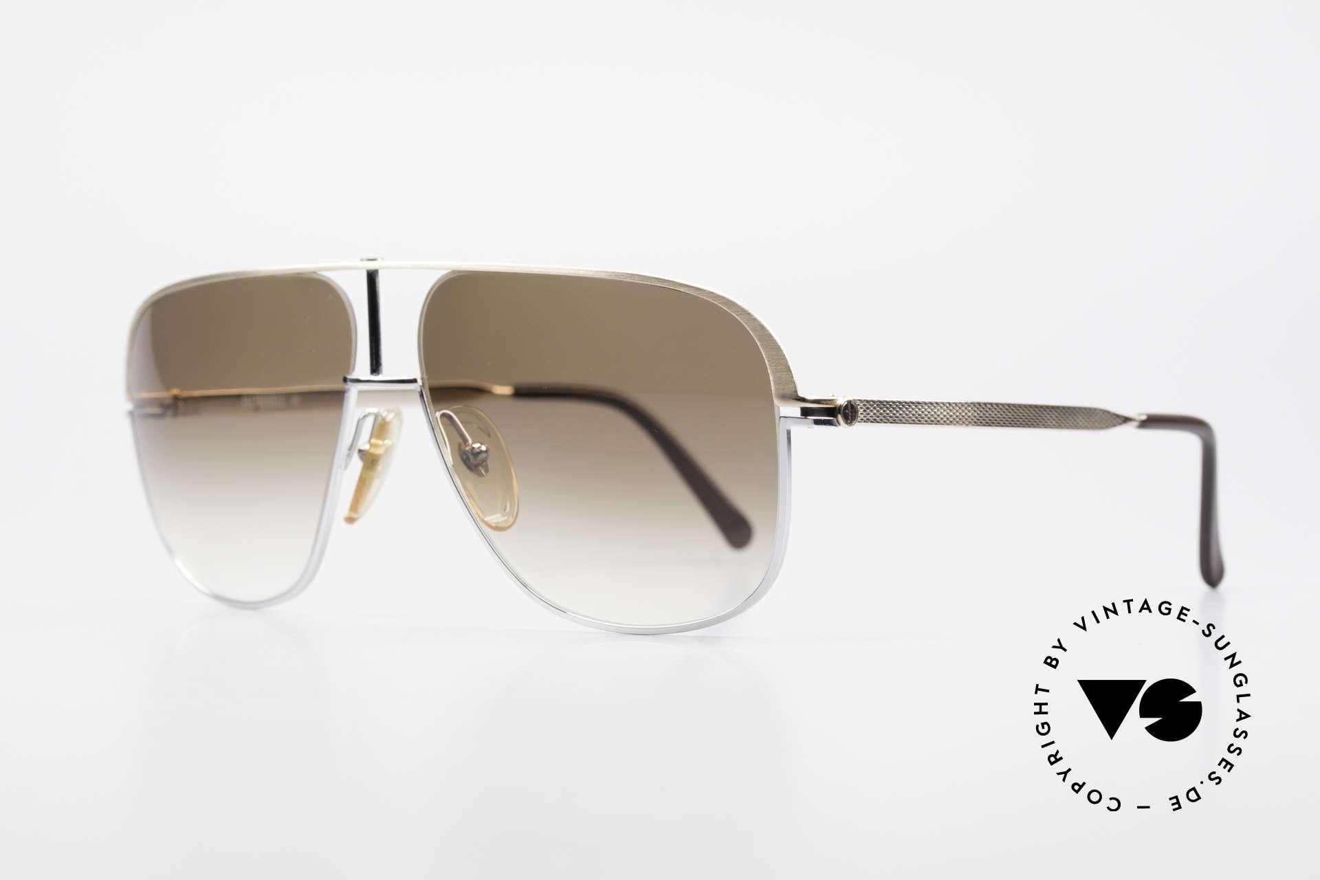 Dunhill 6019 80er Gentleman Luxus Brille, Fassung ist teils hartvergoldet und teils verchromt, Passend für Herren