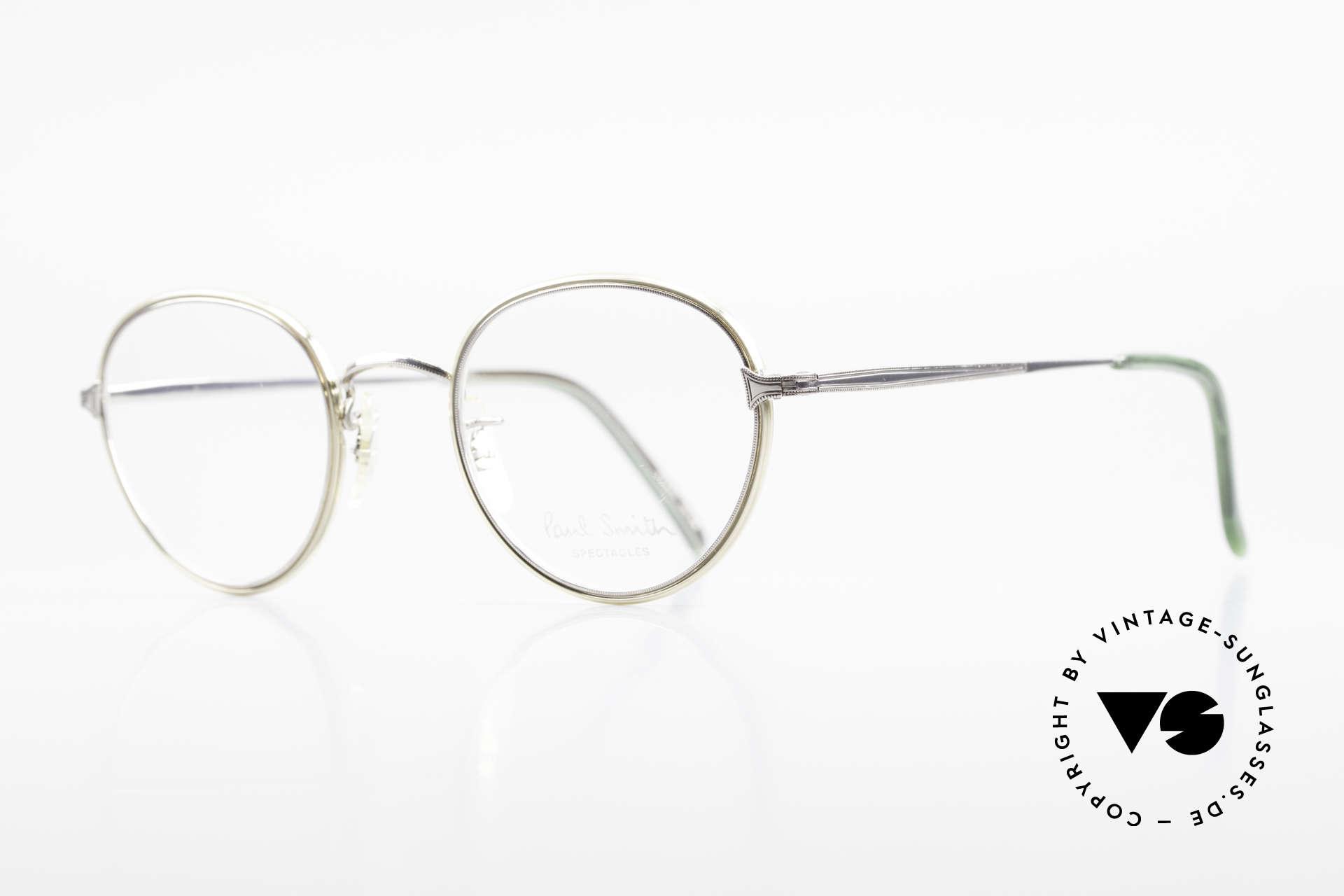 Paul Smith PSR109 80er Pantobrille Altes Original, dieses alte Paul Smith Original ist noch 'made in Japan', Passend für Herren
