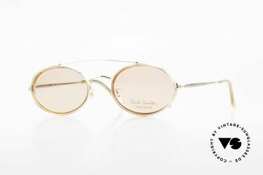 Paul Smith PSR108 Ovale Vintage Brille Mit Clip Details