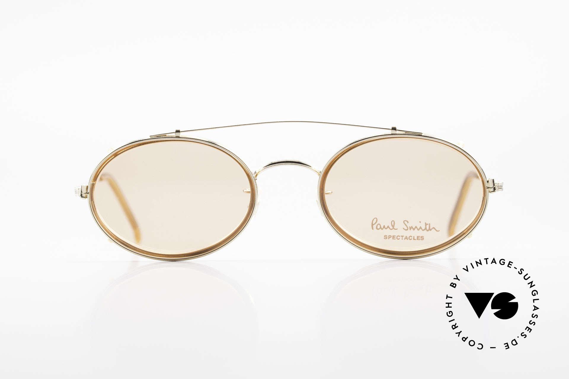 Paul Smith PSR108 Ovale Vintage Brille Mit Clip, aus einer Zeit bevor PS Brillen Lizenzprodukte wurden, Passend für Herren und Damen
