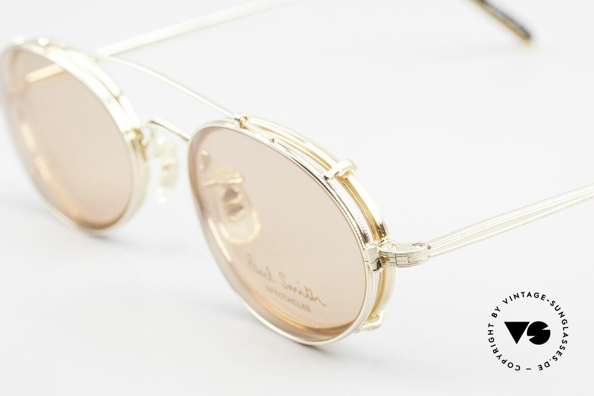 Paul Smith PSR108 Ovale Vintage Brille Mit Clip, zeitloses Design und absolut erstklassige Verarbeitung, Passend für Herren und Damen