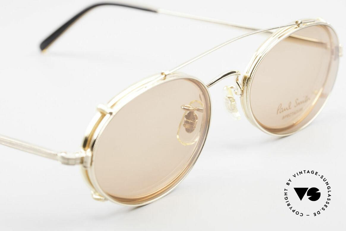 Paul Smith PSR108 Ovale Vintage Brille Mit Clip, ungetragene ovale Fassung mit praktischem CLIP-ON!, Passend für Herren und Damen