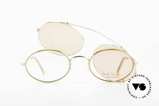 Paul Smith PSR108 Ovale Vintage Brille Mit Clip, KEINE RETRO-BRILLE, sondern eine echte alte RARITÄT, Passend für Herren und Damen