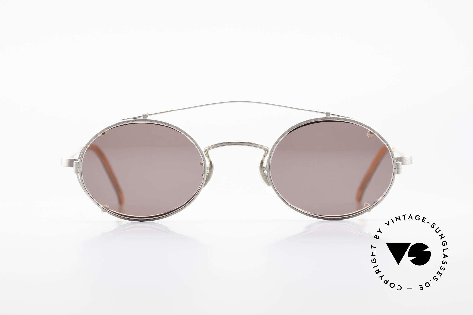 Paul Smith PS100 Ovale Vintage Brille Clip On, aus einer Zeit bevor PS Brillen Lizenzprodukte wurden, Passend für Herren und Damen