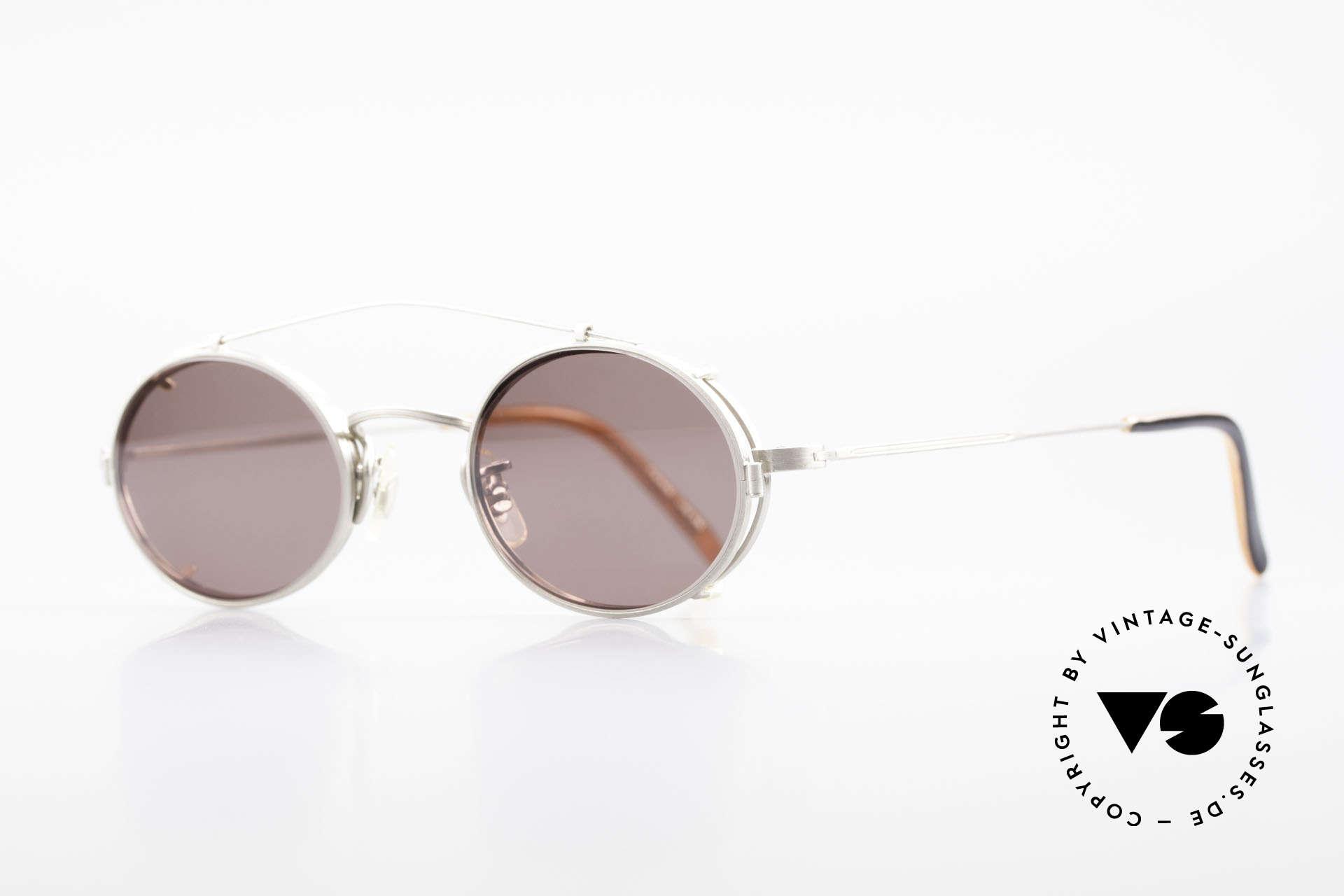 Paul Smith PS100 Ovale Vintage Brille Clip On, dieses alte Paul Smith Original ist noch 'made in Japan', Passend für Herren und Damen