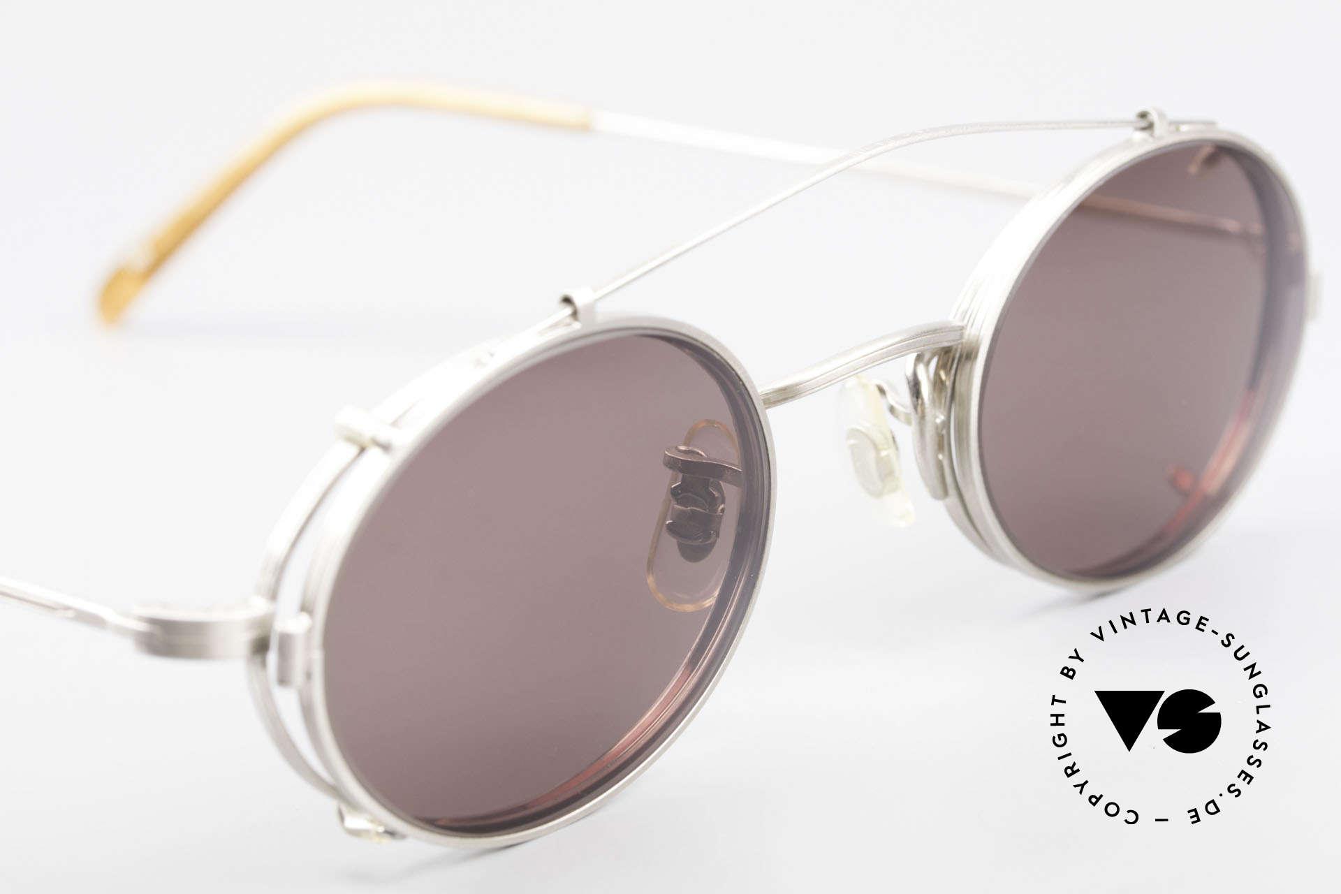 Paul Smith PS100 Ovale Vintage Brille Clip On, ungetragene ovale Fassung mit praktischem Sonnenclip, Passend für Herren und Damen