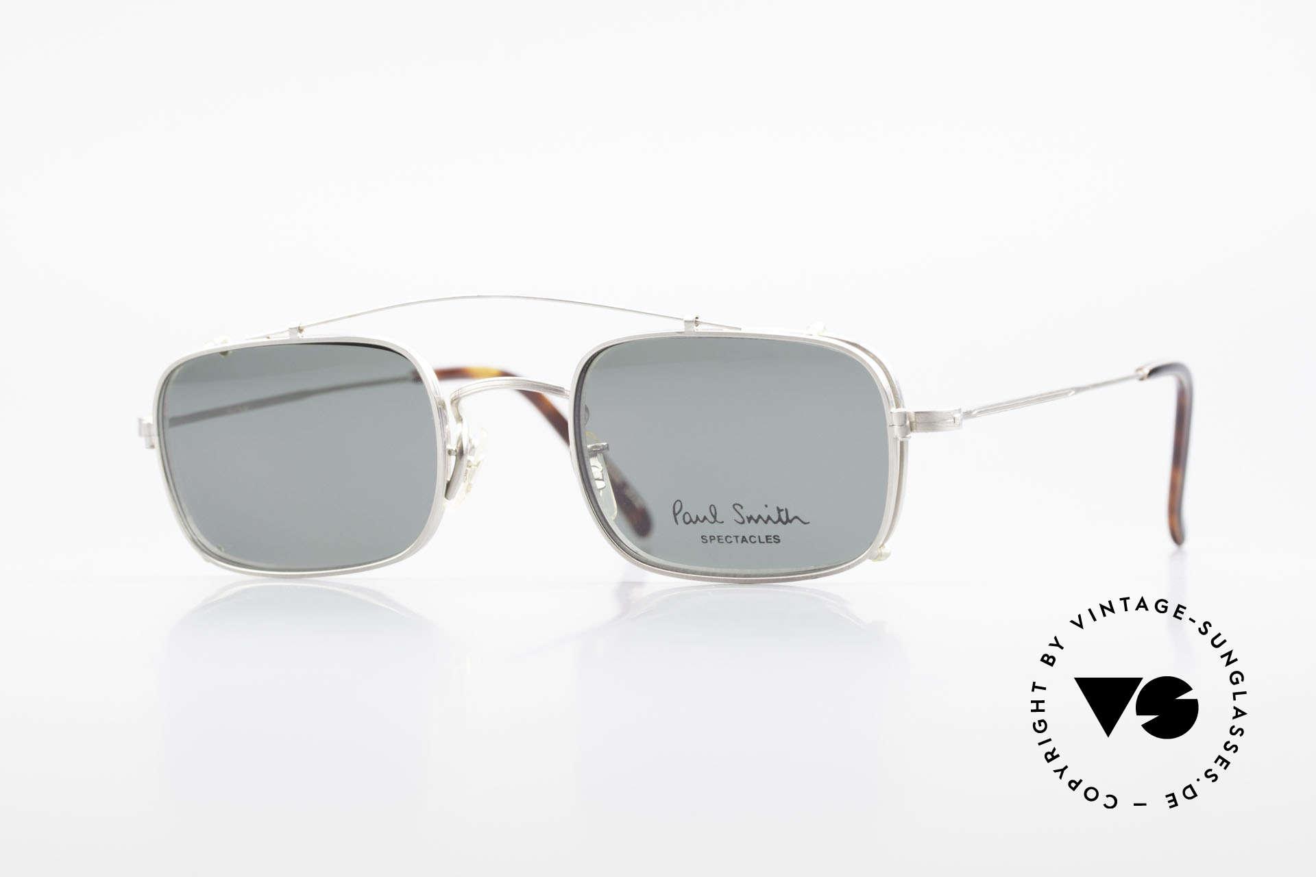 Paul Smith PS101 Eckige Vintage Brille Clip On, Paul Smith vintage Brille der späten 80er / frühe 90er, Passend für Herren und Damen