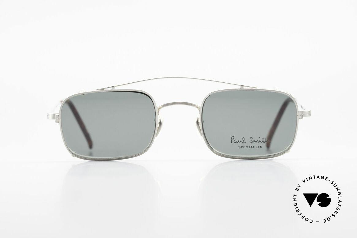 Paul Smith PS101 Eckige Vintage Brille Clip On, aus einer Zeit bevor PS Brillen Lizenzprodukte wurden, Passend für Herren und Damen