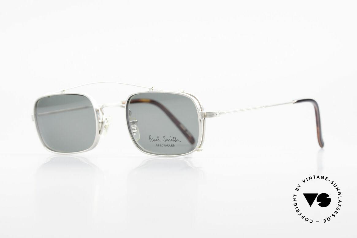Paul Smith PS101 Eckige Vintage Brille Clip On, dieses alte Paul Smith Original ist noch 'made in Japan', Passend für Herren und Damen