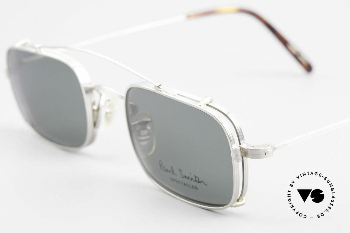 Paul Smith PS101 Eckige Vintage Brille Clip On, zeitloses Design und absolut erstklassige Verarbeitung, Passend für Herren und Damen