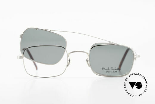 Paul Smith PS101 Eckige Vintage Brille Clip On, KEINE RETRO-BRILLE, sondern eine echte alte RARITÄT, Passend für Herren und Damen
