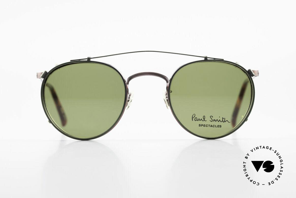 Paul Smith PSR102 Panto Vintage Brille Clip On, Paul Smith vintage Brille der späten 80er / frühe 90er, Passend für Herren und Damen