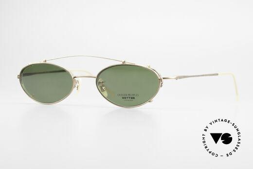 Oliver Peoples OP599 Ovale Vintage Brille Mit Clip Details