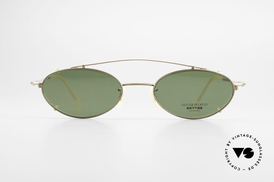 Oliver Peoples OP599 Ovale Vintage Brille Mit Clip, Luxusbrille: verkörpert den Lifestyle von Los Angeles, Passend für Herren und Damen