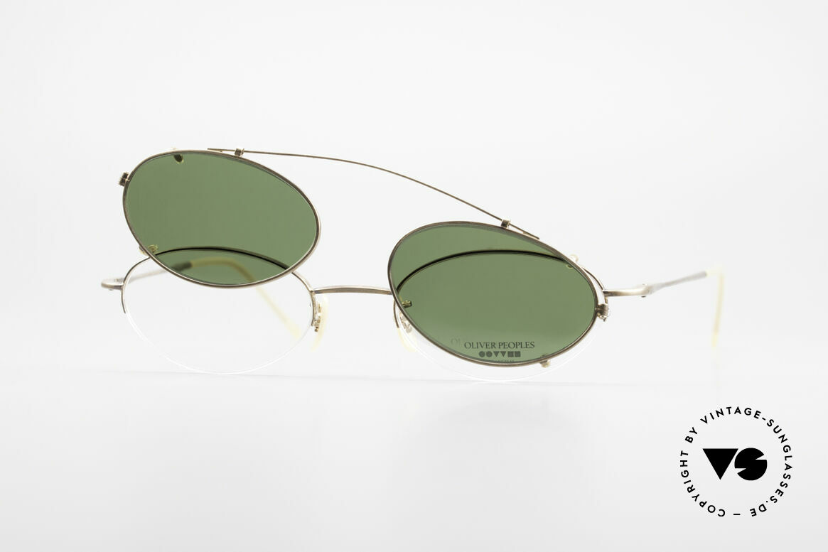 Oliver Peoples OP599 Ovale Vintage Brille Mit Clip