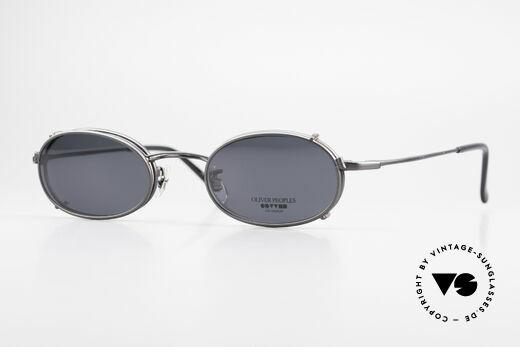 Oliver Peoples OP583 Ovale 90er Brille Mit Sun Clip Details
