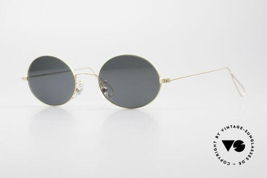 Cutler And Gross 0305 Ovale Vintage Sonnenbrille Details